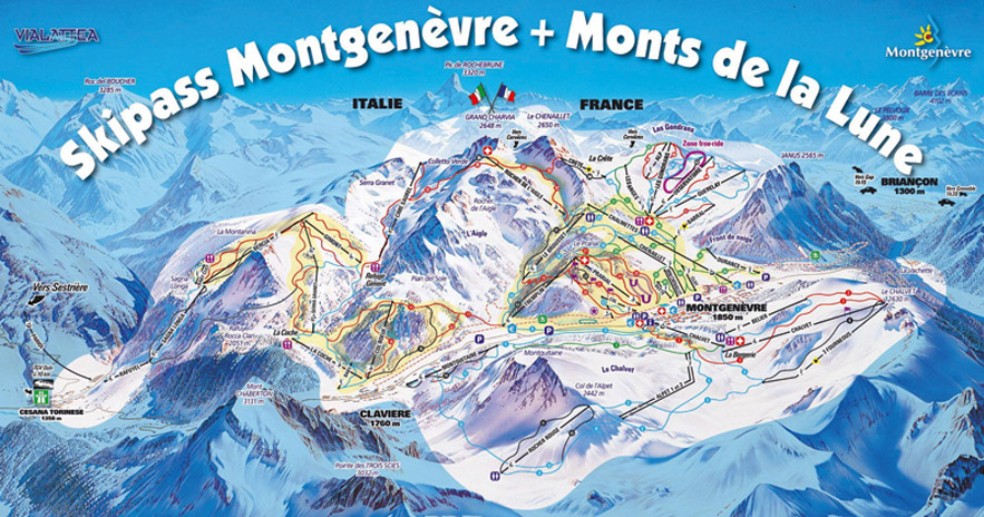School ski trips to Montgenevre in France