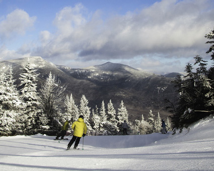 Skiing in Waterville Valley Resort, New Hampshire