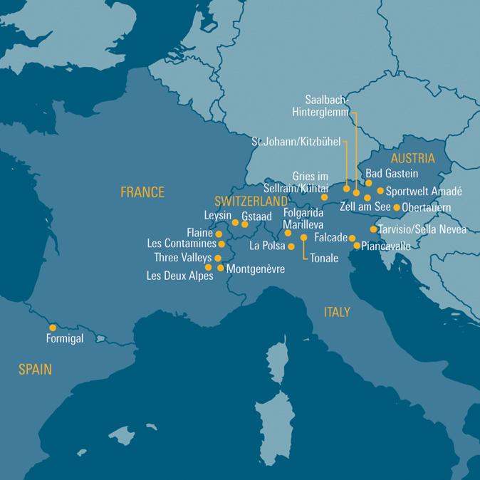 Interactive Map | Destinations | School Ski Trips | Club Europe