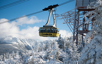 Skiing in Cannon Mountain New Hampshire