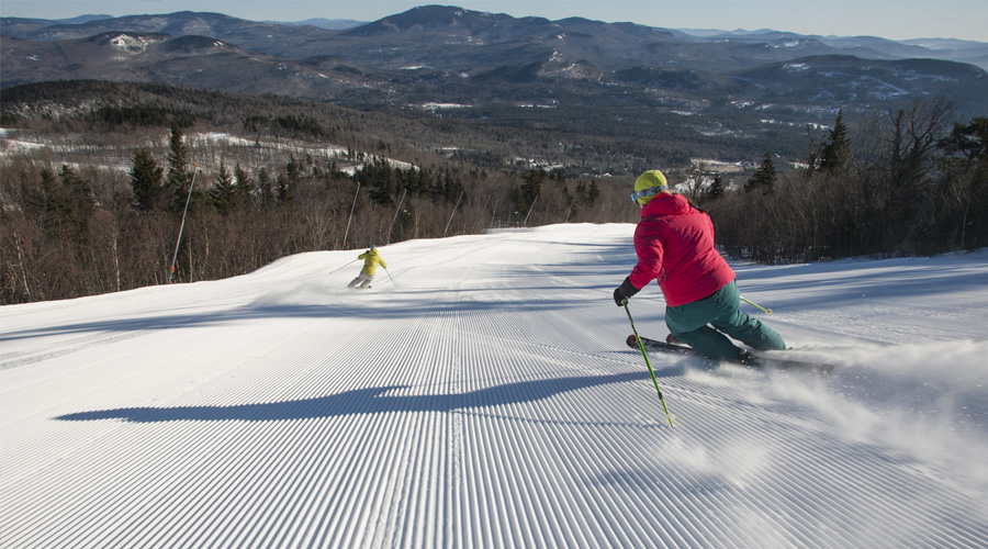 Skiing in Sunday River
