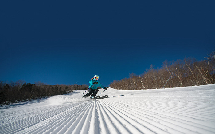 Skiing in Cannon Mountain, New Hampshire