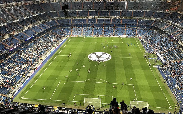 Take a guided tour of Santiago Bernabeu Stadium on your next football tour