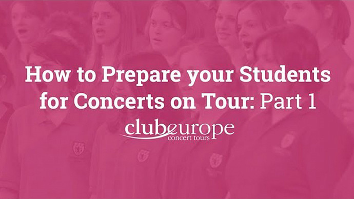 How to Prepare Your Students for Concerts on Tour - Part 1