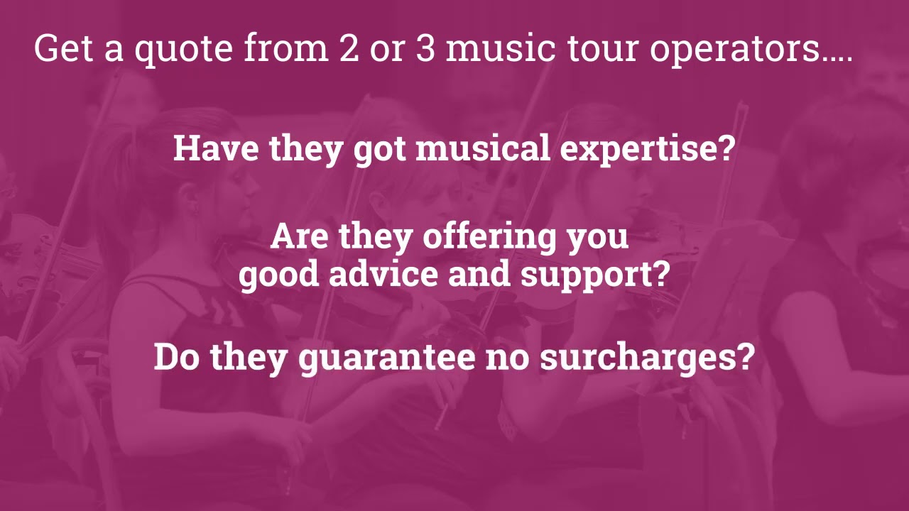 How to Plan a Concert Tour 2