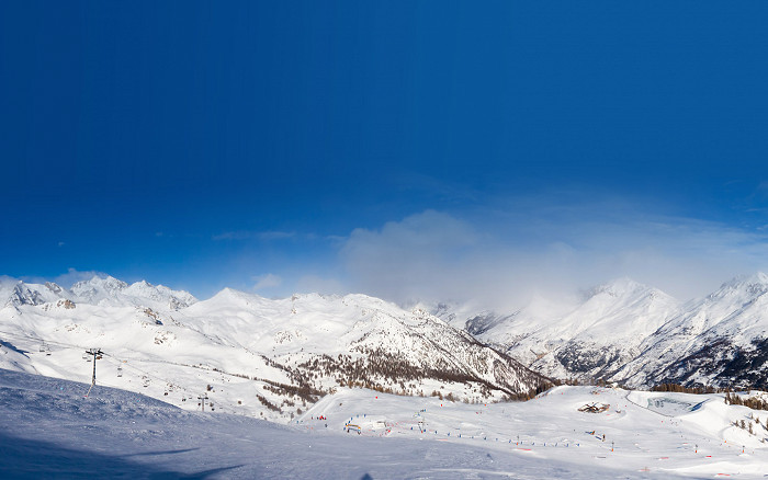 Skiing in Serre Chevalier