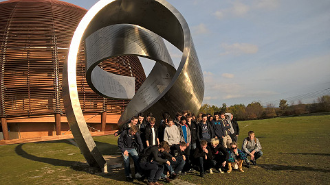 Our students on their school travel tour to CERN